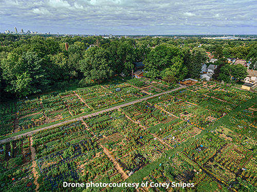 Drone aerial view courtesy of Corey Snipes